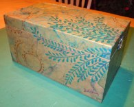 SOLD Papered Box with Vines