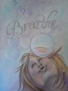 """Breathe 18 x 24"""" Mixed Media"""