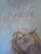 "Breathe 18 x 24"" Mixed Media"