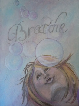 SOLD Breathe Mixed Media 18 x 24""