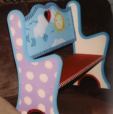 Painted Nursery Bench