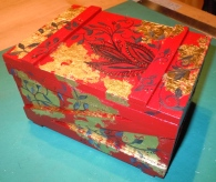 SOLD Red Box with Gold Foil