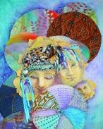 "Kaleidoscope Mixed Media Shadow Box 20 x 24"""