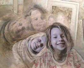 "Sleepover Mixed Media/Photo Collage 20 x 16"""