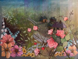 Utopia Mixed Media/Photo Collage 2 x 3'